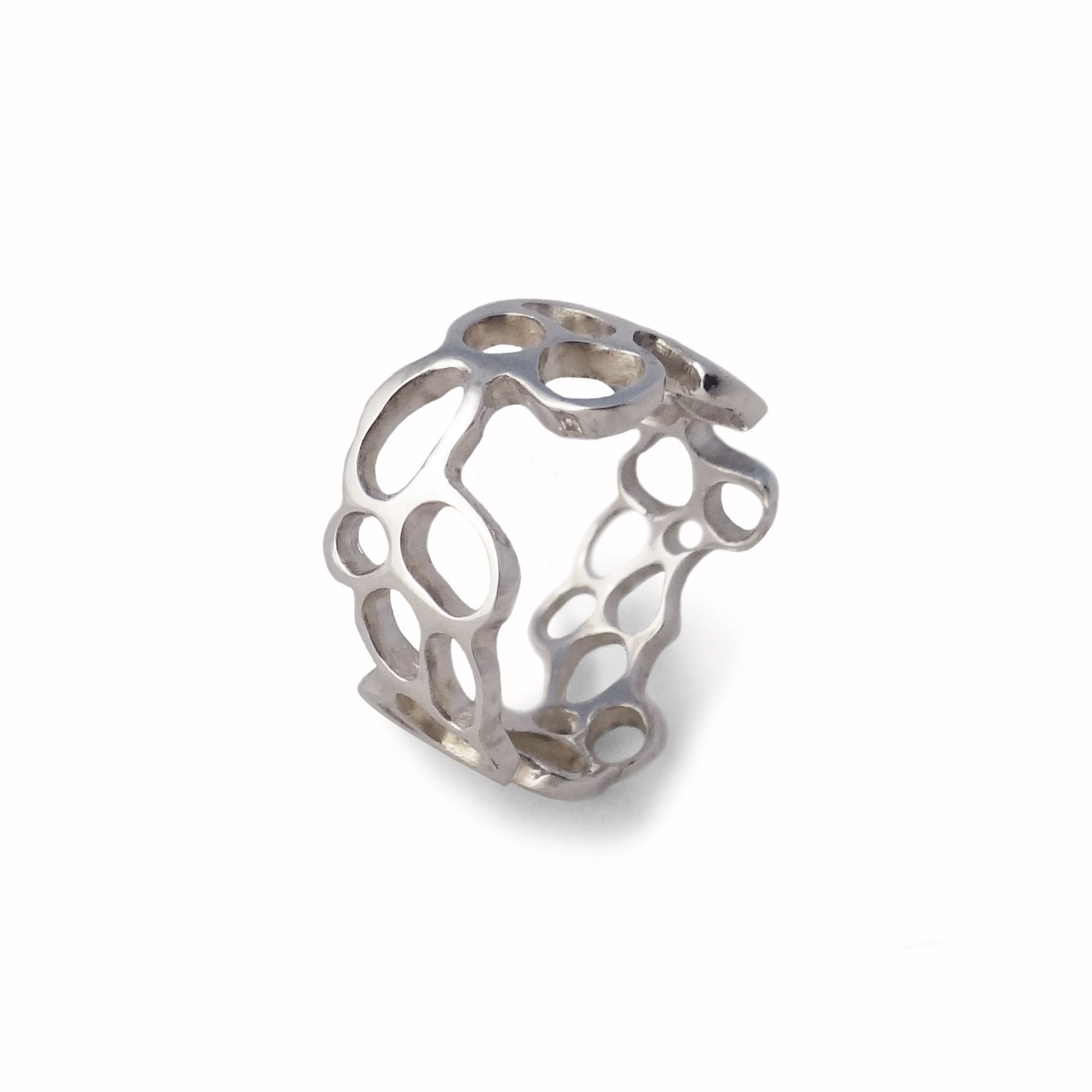 buy a handmade argentium silver or gold gaudi ring made