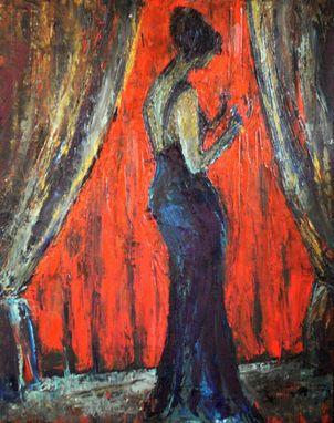 Custom Made High Quality Giclee Print. Lady At Opera.