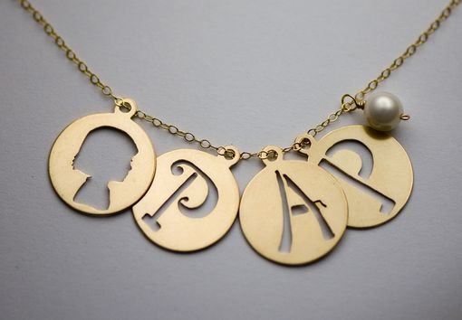 Custom Made Initial And Silhouette Necklace