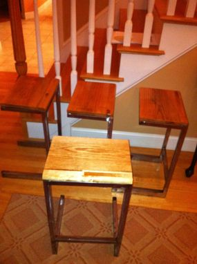Custom Made Oak Stools/End Tables