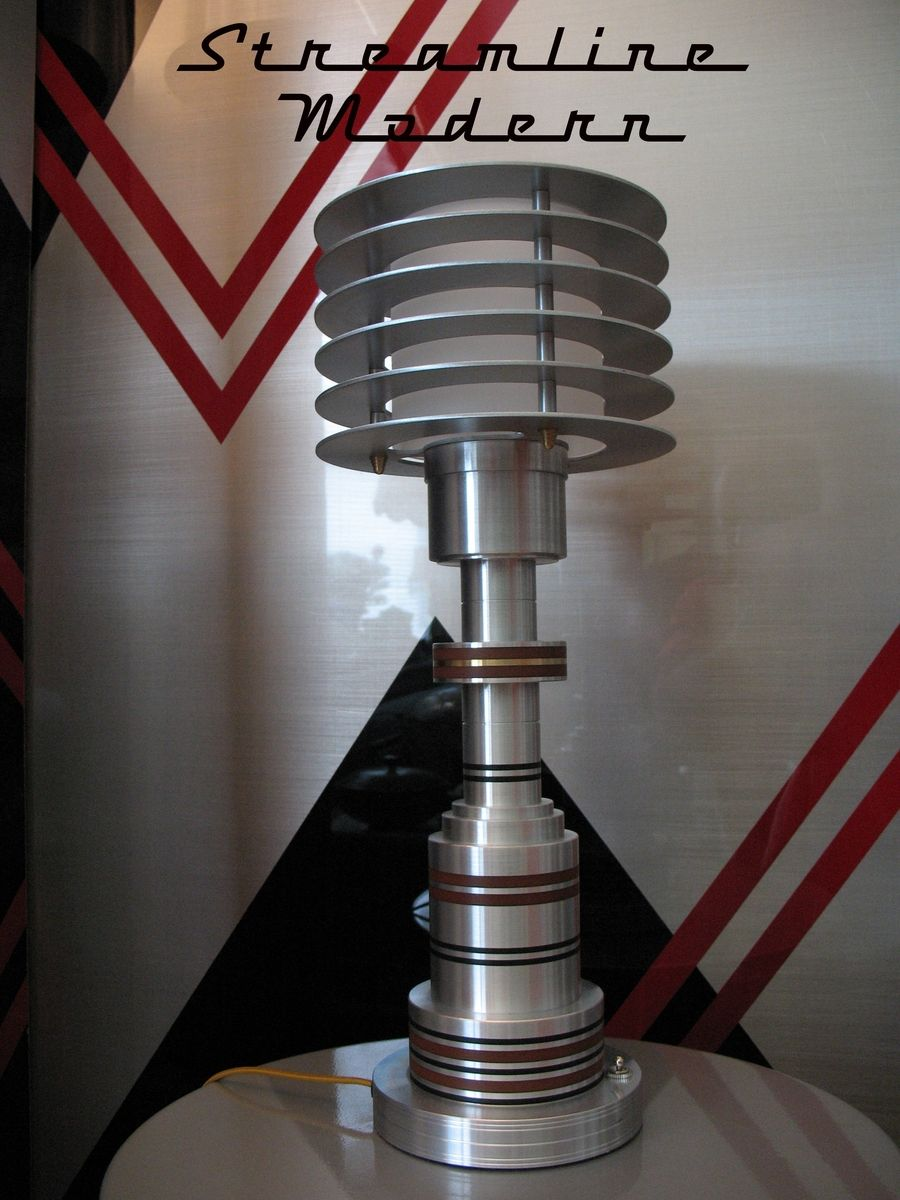 Custom Made Vintage Restored Pattyn Lamp Art Deco Machine