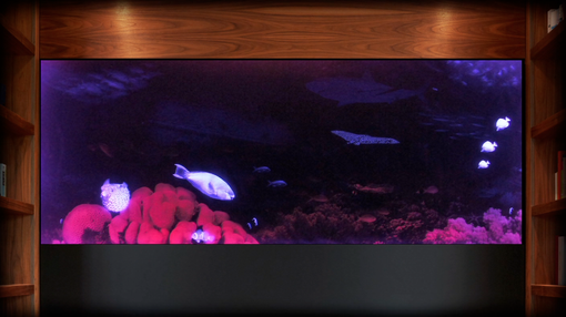 Custom Made Illuminated Etched Glass Ocean Atmosphere: High Impact Glass For Bar, Yacht And Home Office Design