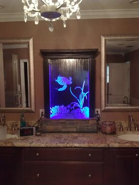 Custom Made Etched Glass Water Fountains Medium To Large