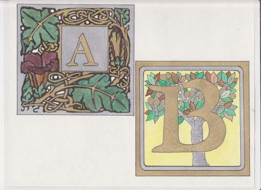 Custom Made Individual Letters Of The Alphabet - Hand Painted