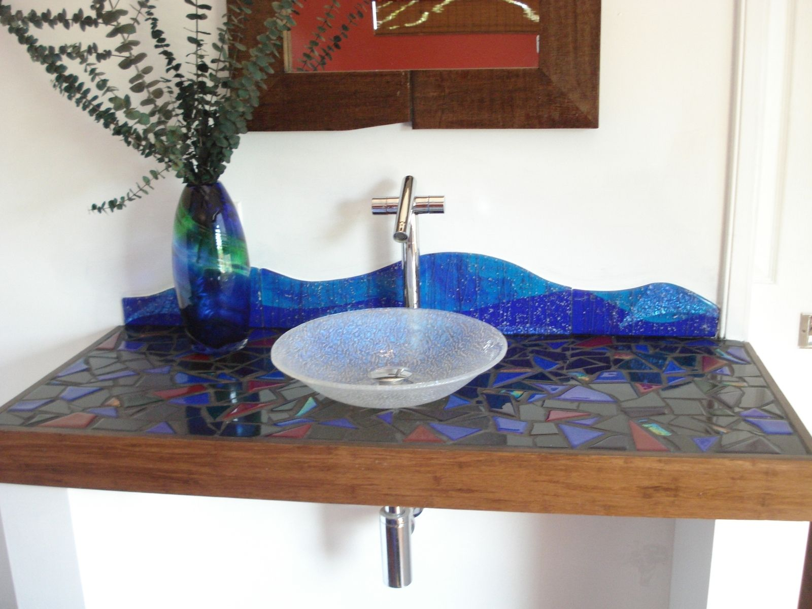 Hand Made Custom Dichroic Glass Sink by Rjk Studio | CustomMade.com