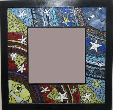 Custom Made An Endles Scycle Of Birth  And Rebirth Mosaic Stained Glass Mirror
