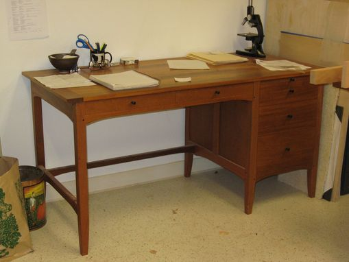 Custom Made Figured Cherry Desk