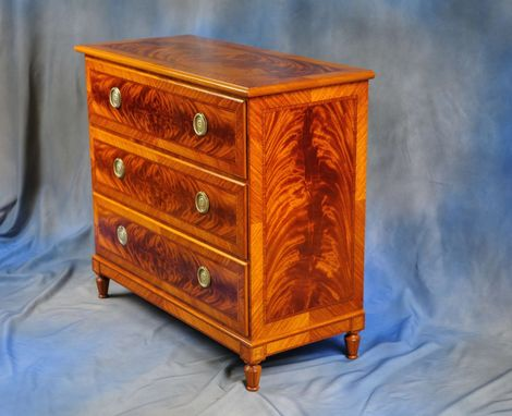 Custom Made Veneered Bureau Or Chest