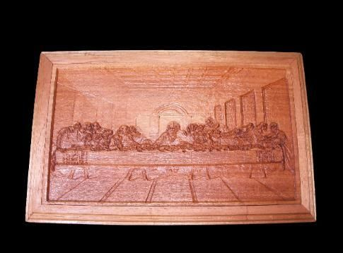 "Custom Made 3d Wall Art ""The Last Supper Carving"""