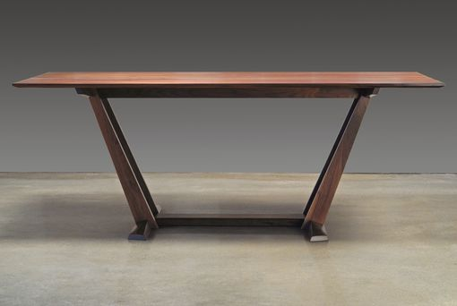 Custom Made Leaning Trestle Dining Table