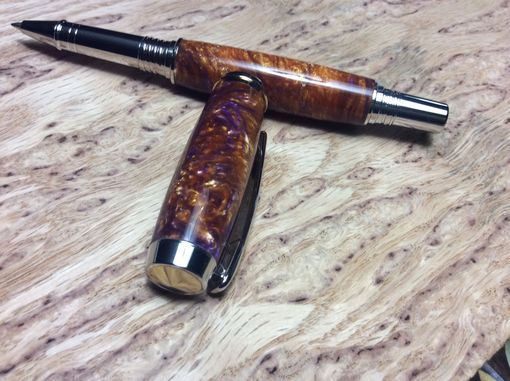Custom Made Jr. Statesman Rhodium And 22kt. Gold Rollerball Pen