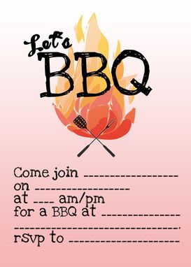 Custom Made Bbq Invitation