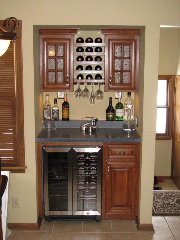 Custom dry bar by sahn lee crafts llc for Small bar area ideas