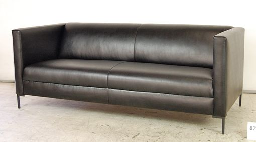 Custom Made Contemporary Leather Sofa