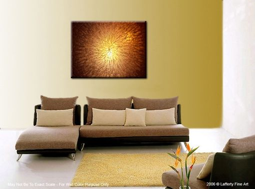Custom Made Original Large Textured Painting Contemporary Gold Metallic Abstract Impasto Palette Knife