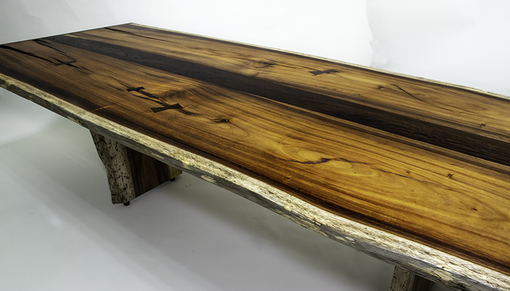 Custom Made Live Edge Table Handcrafted