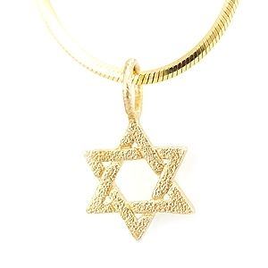 Custom Made Star Of David Gold Pendant