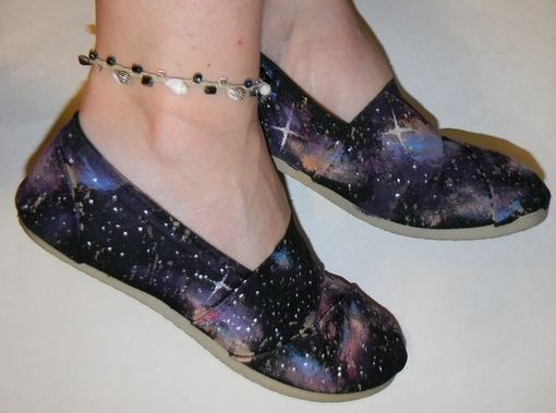 Custom Made Galaxy Hand Painted Slip On Shoes