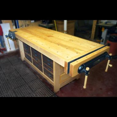 Custom Made 700 Lb. Workbench (Desk, Table, Cabinets)