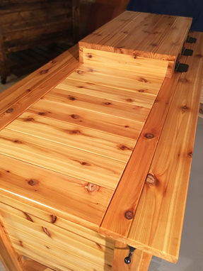 Custom Made Cedar Ice Chest Cooler And Cabinet