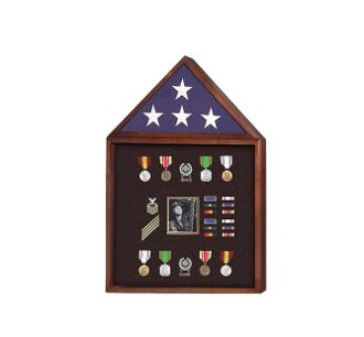 Custom Made Flag And Badge Display Cases, Flag And Photo Frame