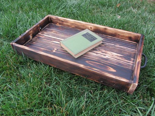 Custom Made Wood Serving Tray Made From Reclaimed Pallet Wood Ottoman Tray