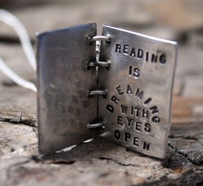 Custom Made Sterling Silver - Personalized Dream Book Necklace
