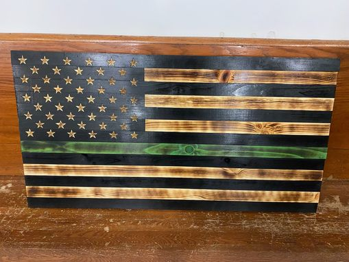 Custom Made Green Stripe Flag