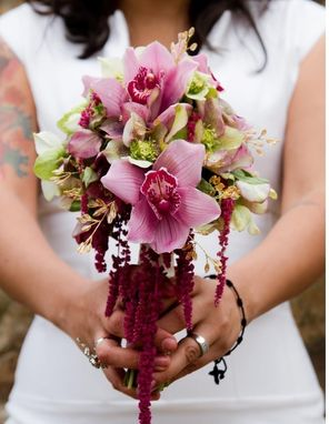 Custom Made Orchid & Gems Bridal Bouqet