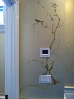 Custom Made Hand Painted Mural- Birds And Fauna- Hall And Master Bath