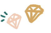 Illustration of two diamomnds