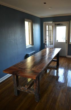 Hand Crafted Authentic Barn Wood White Oak Farmhouse Table
