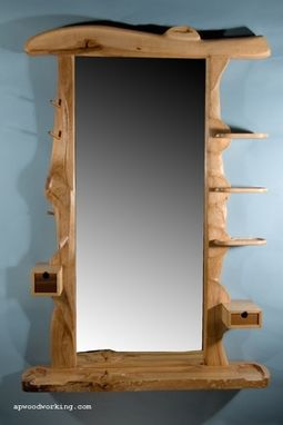 Custom Made Live-Edge Sculpted Wall Mirrors