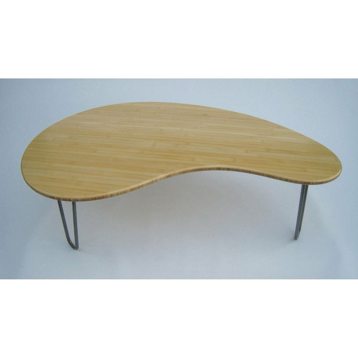 Custom Made Kidney Bean Shaped Coffee Table Mid Century Modern Atomic Era Design In