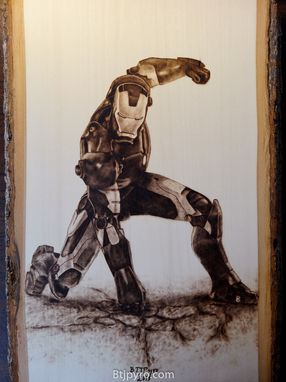 Custom Made Iron Man - Woodburning