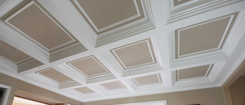 Custom Made Coffered Ceiling System 4 By Fanatic Finish