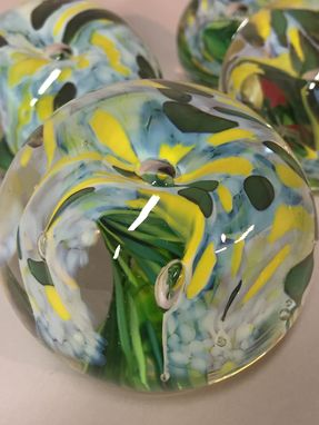 Custom Made Floral Paperweight