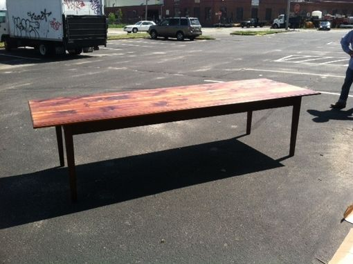 Custom Made Reclaimed Antique Pine Farmers Table
