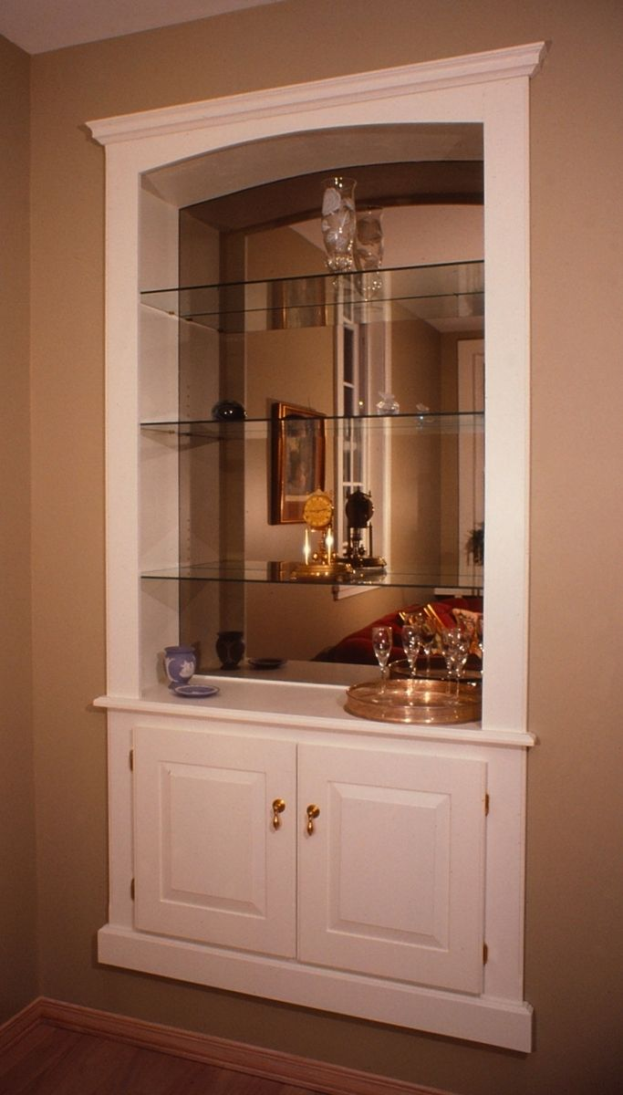 Hand crafted built in wall cabinet by fred miller custom for Modern built in cupboards