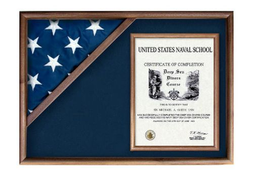Custom Made Display Cases For Flags From Military