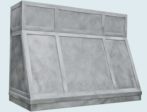 Custom Made Zinc Range Hood With Strap Panels