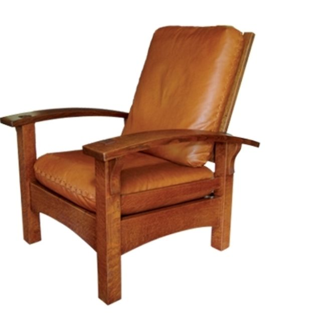 Bow Arm Morris Chair - Mission Style, Arts & Crafts Style, Craftsman Style, Stickley Style