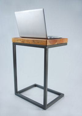 Custom Made Industrial Reclaimed Timber Laptop Table