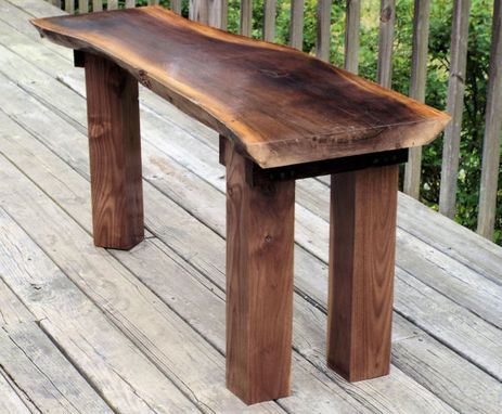 Custom Made Walnut Slab Table