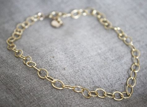 Custom Made 14k Gold Filled Anklet - $30