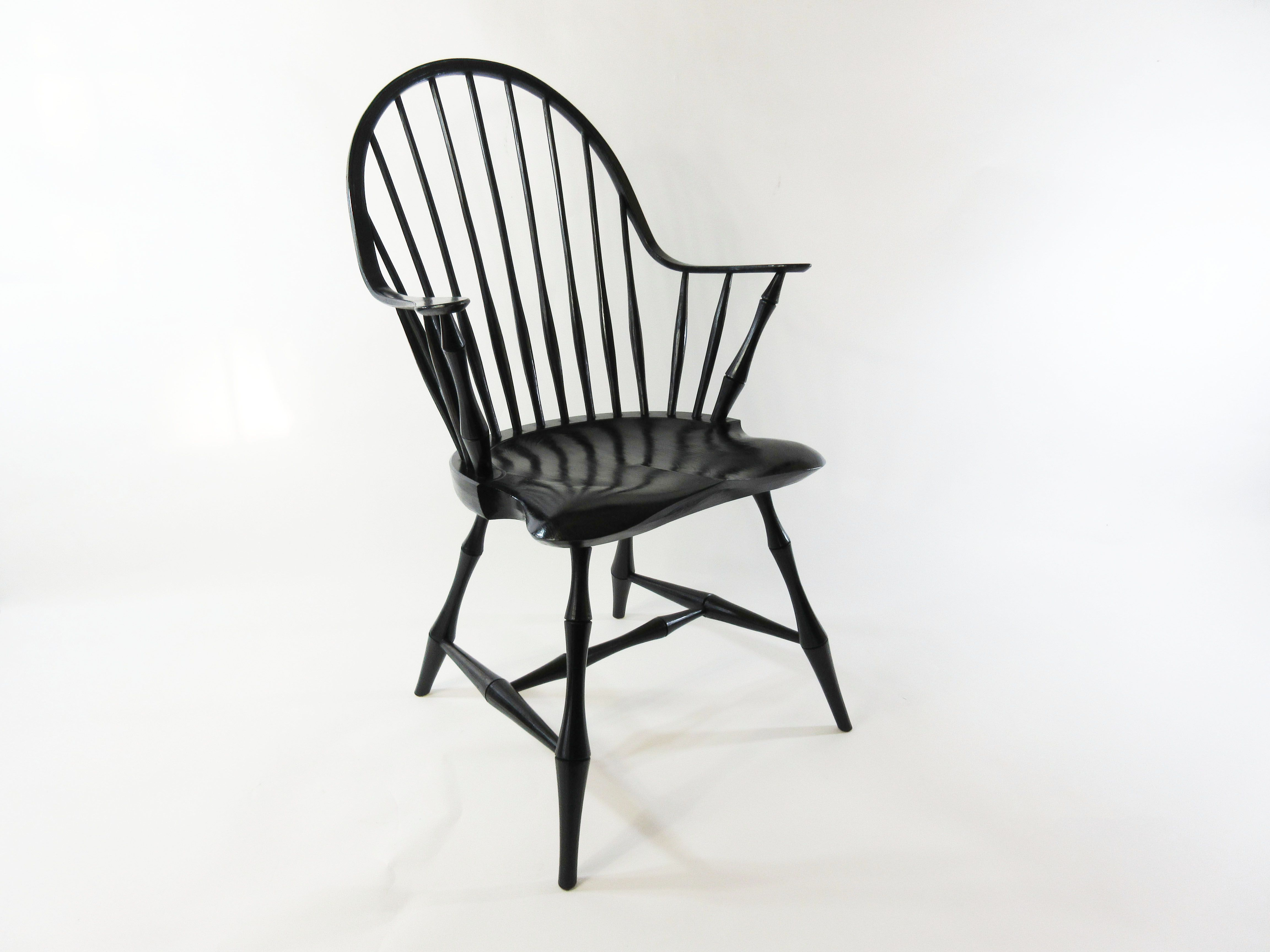 Buy Hand Made Continous Arm Windsor Chair With Bamboo Turnings