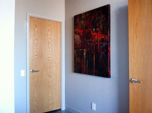 Custom Made Original Abstract Paintings For Penthouse Loft
