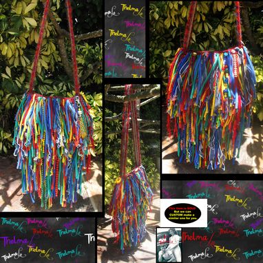 Custom Made Fringed Hippie Tye Dye Handbag Custom Made Unique One Of A Kind Upcycled Funky