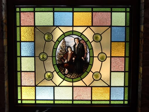 Custom Made Dedication Stained Glass Window