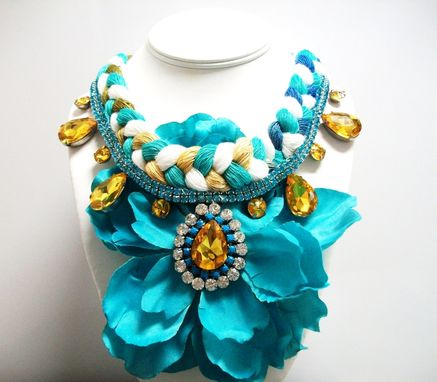 "Custom Made Flower Necklace ""Flora''"